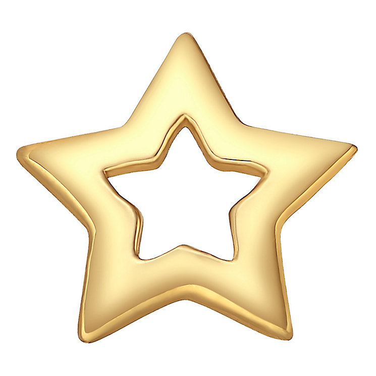 Your Story 9ct Gold Open Star Charm - Product number 3733726