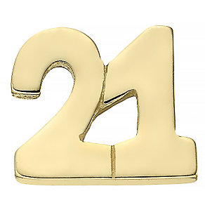 Your Story 9ct Gold '21' Charm - Product number 3733823
