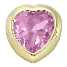 Your Story 9ct Gold October Created Pink Sapphire Charm - Product number 3733831