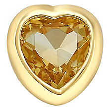 Your Story 9ct Gold November Created Citrine Heart Charm - Product number 3734021