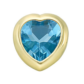 Your Story 9ct Gold December Blue Topaz Heart Charm - Product number 3734048