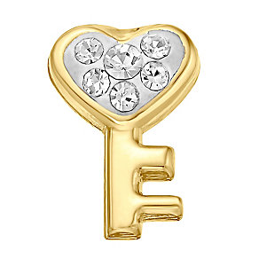Your Story 9ct Gold Crystal Set Key Charm - Product number 3734099
