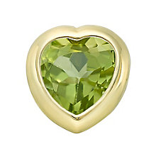 Your Story 9ct Gold August Peridot Heart Charm - Product number 3734315