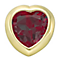 Your Story 9ct Gold July Created Ruby Heart Charm - Product number 3734323
