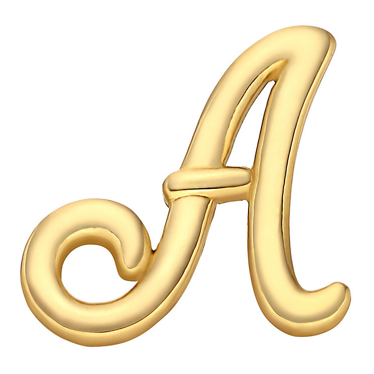 Your Story 9ct Gold 'A' Charm - Product number 3734331