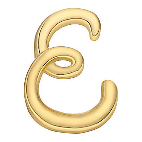 Your Story 9ct Gold 'E' Charm - Product number 3734366