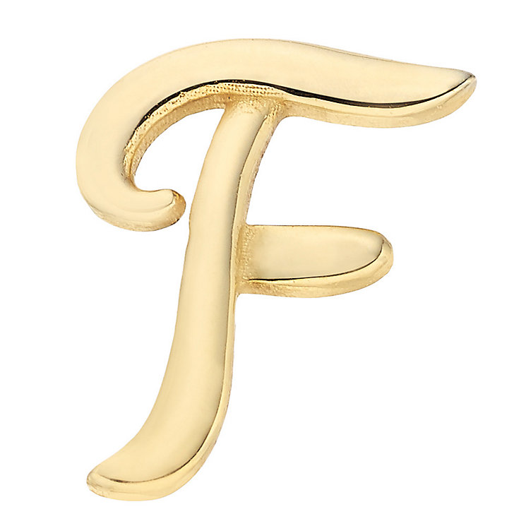 Your Story 9ct Gold 'F' Charm - Product number 3734390
