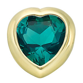 Your Story 9ct Gold May Created Emerald Heart Charm - Product number 3734463