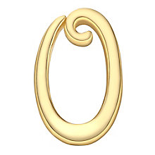 Your Story 9ct Gold 'O' Charm - Product number 3734536