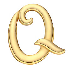 Your Story 9ct Gold 'Q' Charm - Product number 3734552