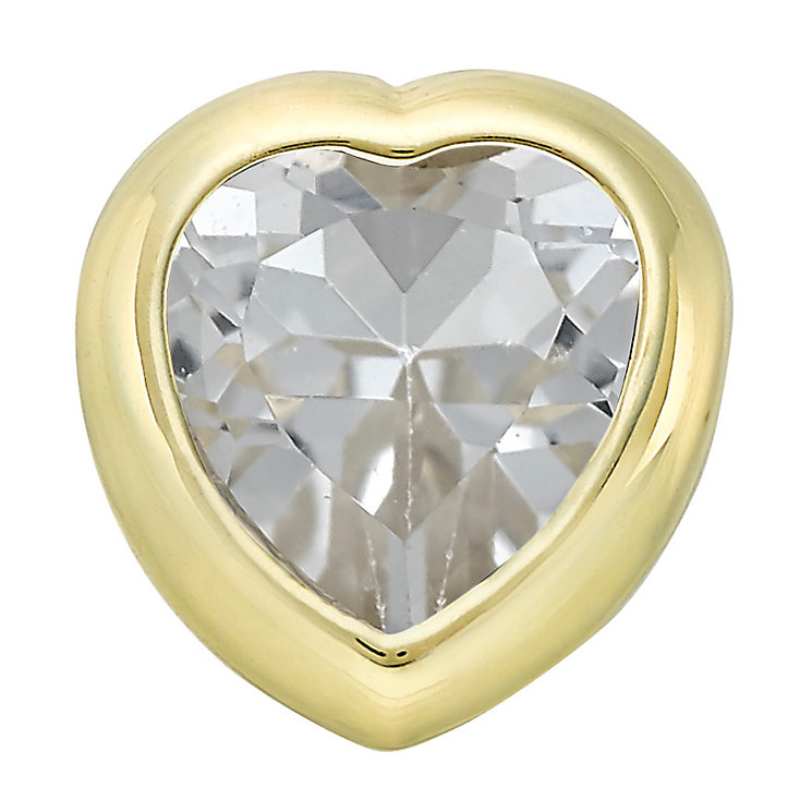 Your Story 9ct Gold April White Topaz Heart Charm - Product number 3734560