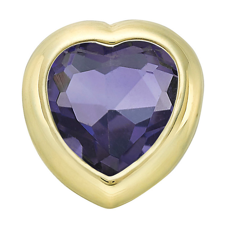 Your Story 9ct Gold February Amethyst Heart Charm - Product number 3734579