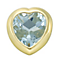Your Story 9ct Gold March Aquamarine Heart Charm - Product number 3734587