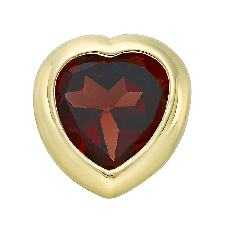 Your Story 9ct Gold January Amethyst Heart Charm - Product number 3734609