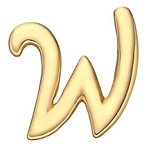 Your Story 9ct Gold 'W' Charm - Product number 3734625