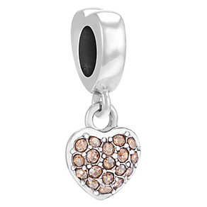 Chamilia Petite Heart sterling silver & Swarovski charm - Product number 3734870