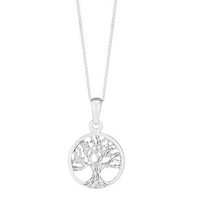 Sterling Silver Tree of Life Circle Pendant - Product number 3735028