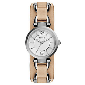 Fossil Ladies' Georgia Artisan Light Brown Leather Watch - Product number 3735168
