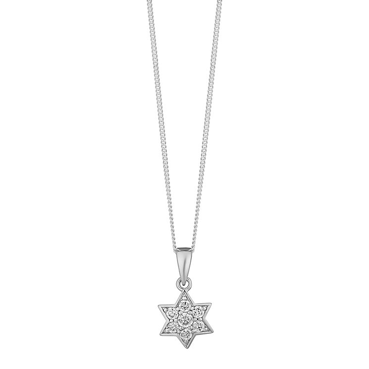 Sterling Silver & Cubic Zirconia Star Pendant - Product number 3735362