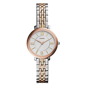 Fossil Ladies' Jacqueline Two Tone Bracelet Watch - Product number 3735710