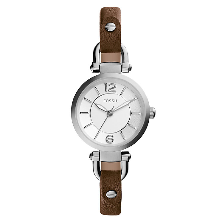 Fossil Ladies' Brown Leather Strap Watch - Product number 3736830
