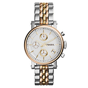 Fossil Ladies' Two Tone Bracelet Watch - Product number 3736865