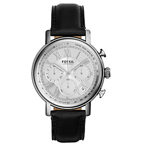 Fossil Men's Buchanan Stainless Steel Leather Strap Watch - Product number 3737748