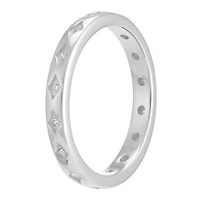 Chamilia Starry Eyed sterling silver clear zirconia ring XS - Product number 3738698