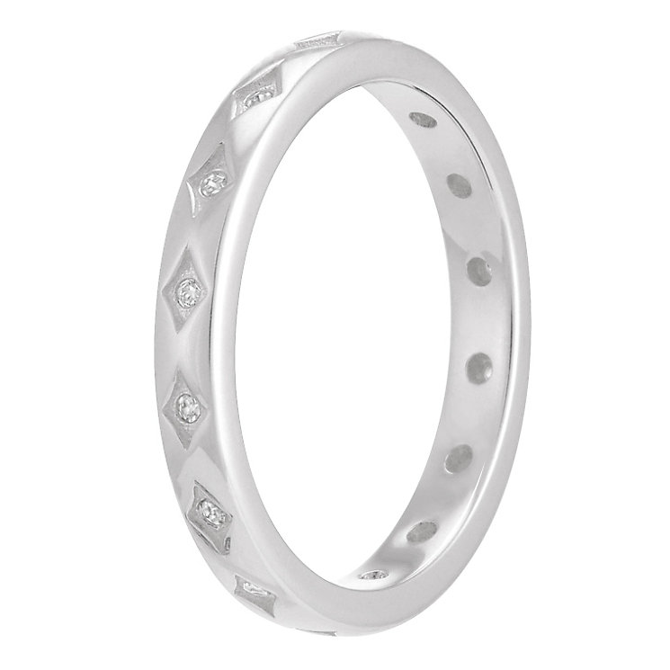 Chamilia Starry Eyed sterling silver clear zirconia ring S - Product number 3739392