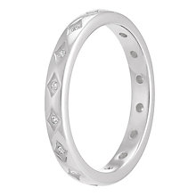 Chamilia Starry Eyed sterling silver clear zirconia ring L - Product number 3739732