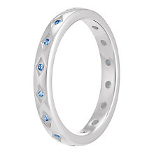 Chamilia Starry Eyed sterling silver blue zirconia ring XS - Product number 3739783
