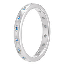 Chamilia Starry Eyed sterling silver blue zirconia ring S - Product number 3741168