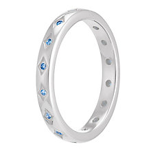 Chamilia Starry Eyed sterling silver blue zirconia ring M - Product number 3741265