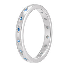 Chamilia Starry Eyed sterling silver blue zirconia ring XL - Product number 3741877