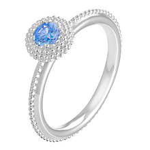 Chamilia Soiree sterling silver December birthstone ring L - Product number 3743241