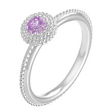 Chamilia Soiree sterling silver February birthstone ring L - Product number 3743586