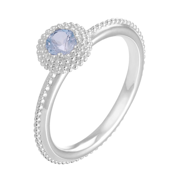 Chamilia Soiree sterling silver March birthstone ring L - Product number 3743810