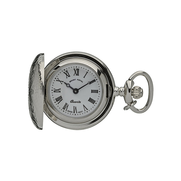 Mount Royal Chrome Pocket Pendant Watch - Product number 3745627