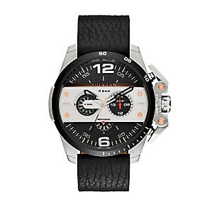 Diesel Ironside Men's Black Dial Black Leather Strap Watch - Product number 3745678