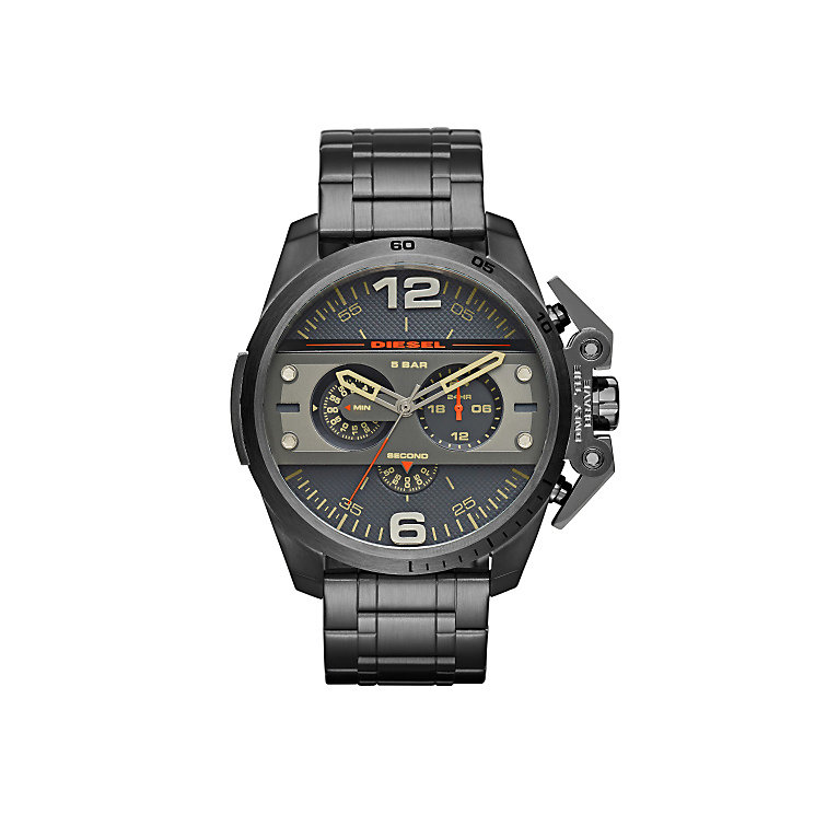 Diesel Mens Ironside Gunmetal Dial & Bracelet Watch - Product number 3745694