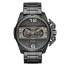 Diesel Mens Ironside Gunmetal Dial & Bracelet Watch - Product number 3745694