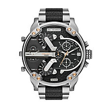 Diesel Mens Mr Daddy Black Dial Black Steel Bracelet Watch - Product number 3745724