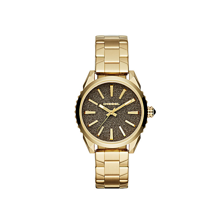 Diesel Ladies Nuki Gold Dial Bracelet Watch - Product number 3745775