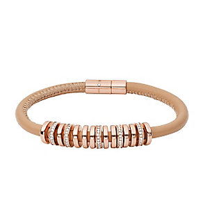 Fossil Rose Gold Plated Stone Set Bracelet - Product number 3749576