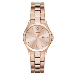 DKNY Ladies' Rose Dial Rose Gold-Plated Bracelet Watch - Product number 3749630