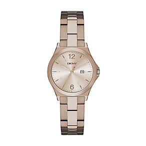 DKNY Ladies' Two Colour Stainless Steel Bracelet Watch - Product number 3749649