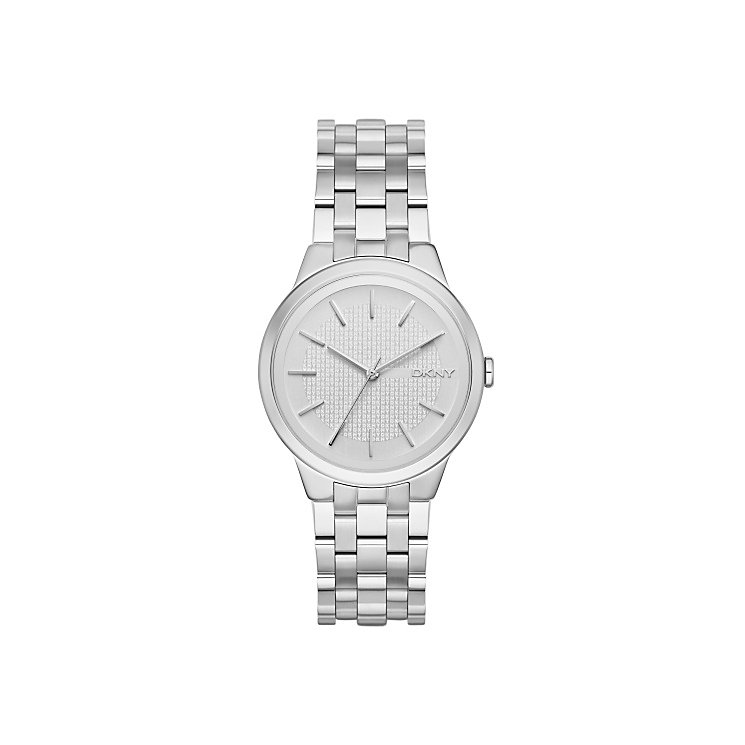 DKNY Ladies' Silver Dial Stainless Steel Bracelet Watch - Product number 3749657