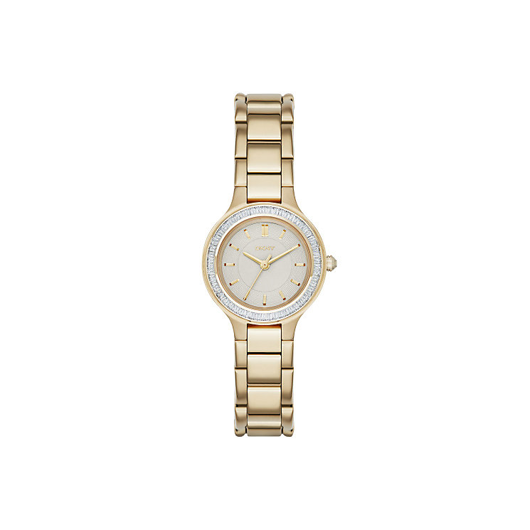 DKNY Ladies' Mother Of Pearl Gold-Plated Bracelet Watch - Product number 3750264