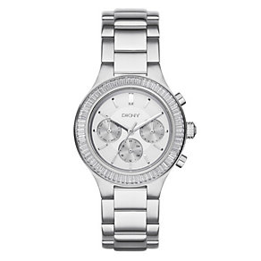 DKNY Ladies' Mother Of Pearl Stainless Steel Bracelet Watch - Product number 3750310