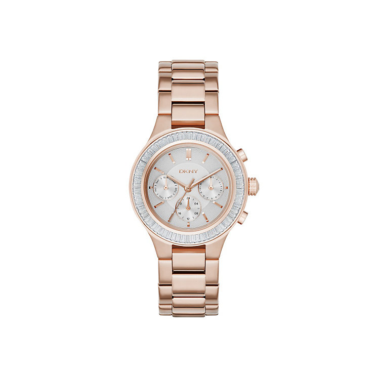 DKNY Mother Of Pearl Dial Rose Gold-Plated Bracelet Watch - Product number 3750329